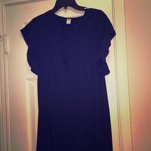 Navy dress.